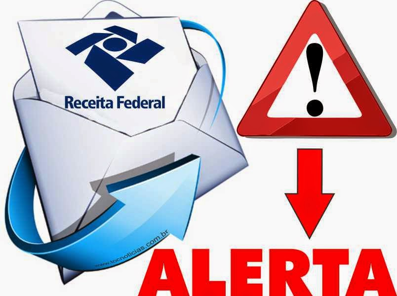 Receita Federal alerta para golpe da regularização de dados cadastrais.