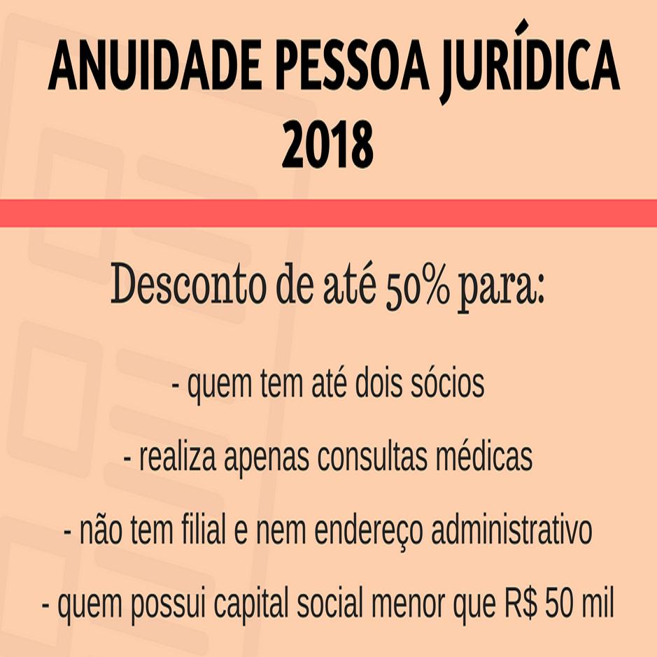 CREMERJ da 50 % de desconto em 2018