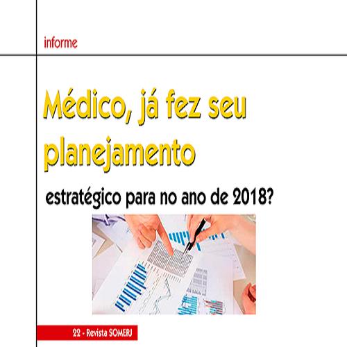 Médico(a), já fez seu planejamento estratégico para 2018?