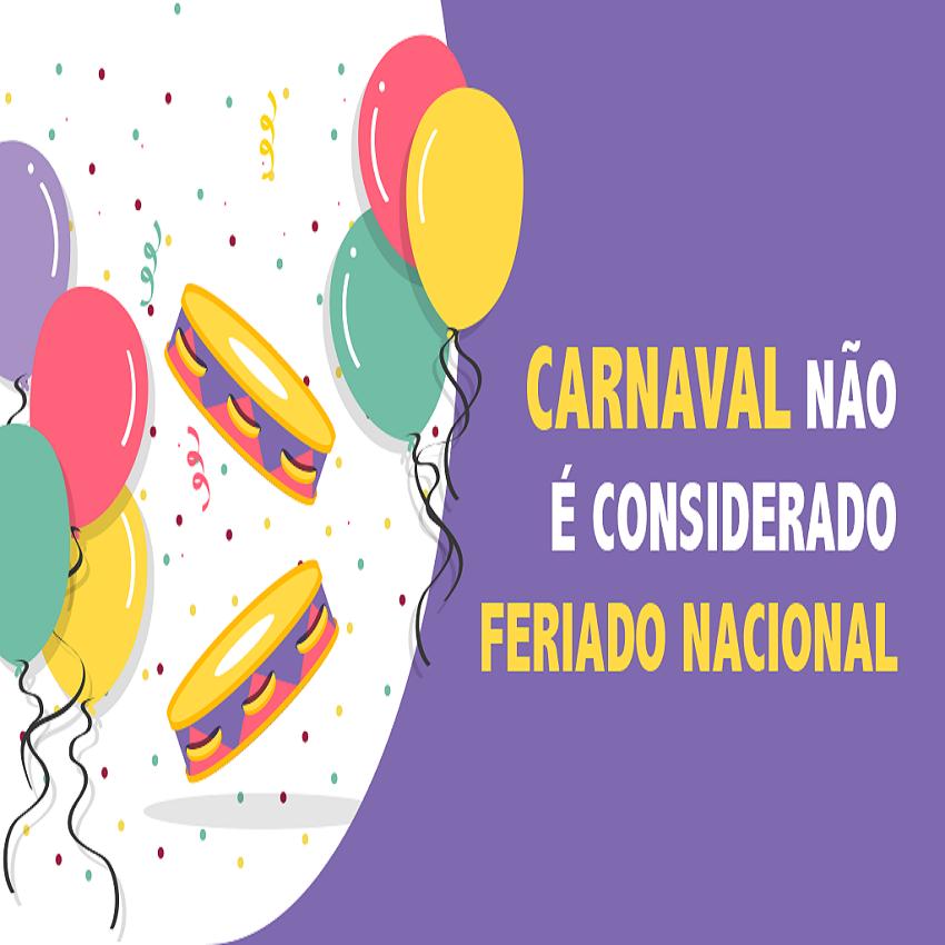 Carnaval é feriado? Posso emendar sem culpa?
