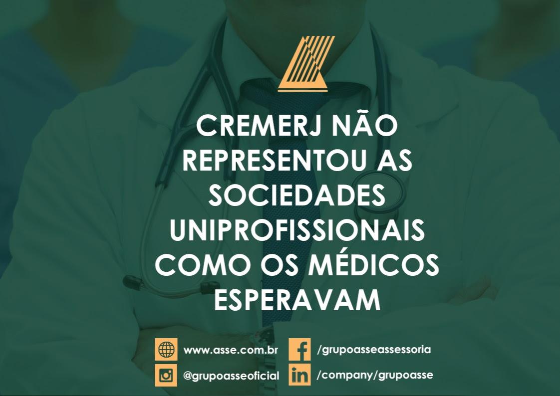 Diretoria anterior do cremerj não representou os médicos no seu direito previsto em lei.