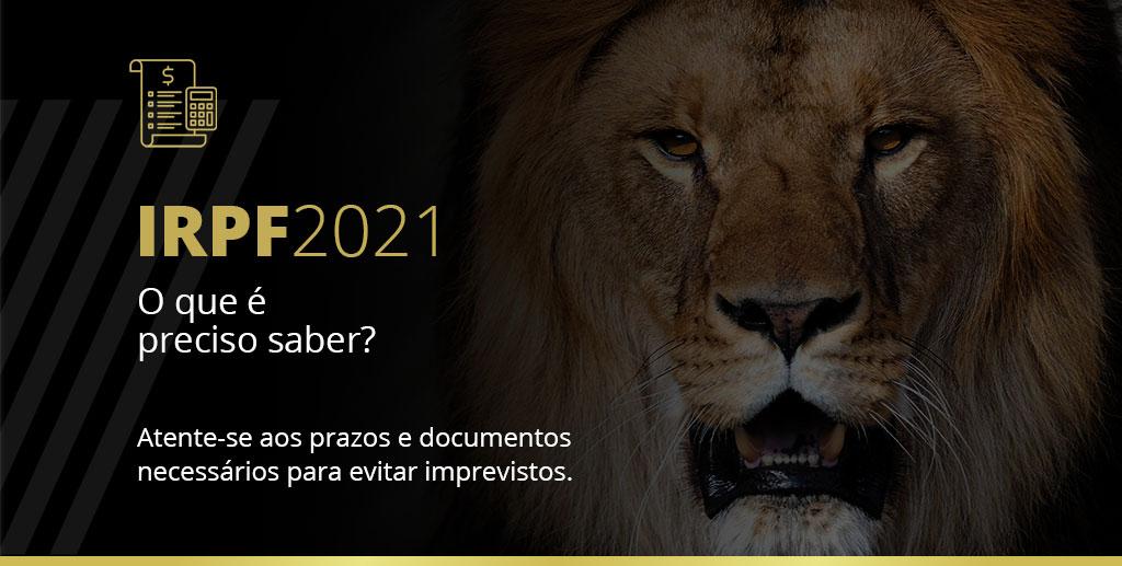 Imagem com um leão, referente à declaração de imposto de renda