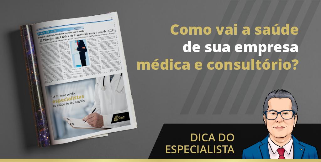 Revista com matéria publicada do Grupo Asse sobre contabilidade médica